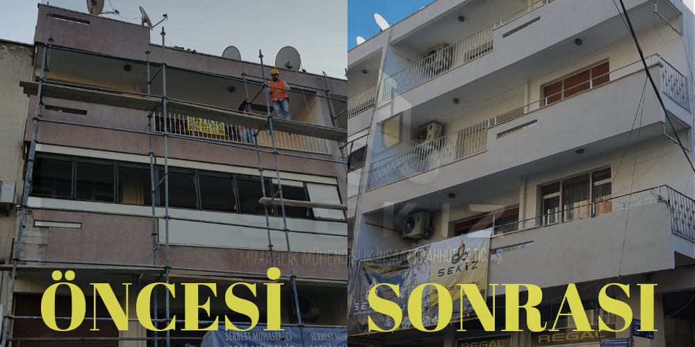 Dış Cephe Yenileme Uygulama | Exterior Renovation Project and Application, Before and After