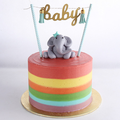 Baby elephant shower cake for boy Online cakes Singapore Sweet