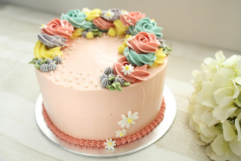 Floral arrangement buttercream cake Online cakes Singapore