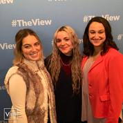 Alejandra, Elizabeth and associate producer Kelsey Klimara at The View
