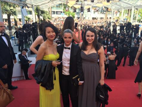 Cannes film festival with D.P. Frances Chen