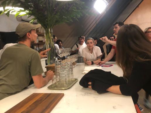 D.P. Soren Nielsen and A.D. Zach Griffin on set for Gets Good Light
