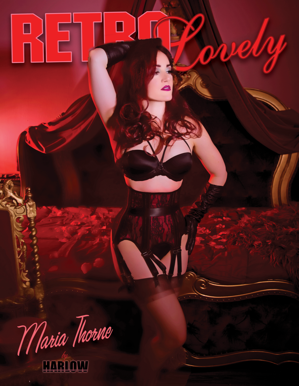 Harlow House Harlow Pinup Magazine Cover Boudoir Chicago;s Best Photographers