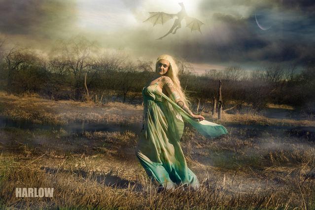 Dragon Queen Harlow House Photo Fantasy Photography