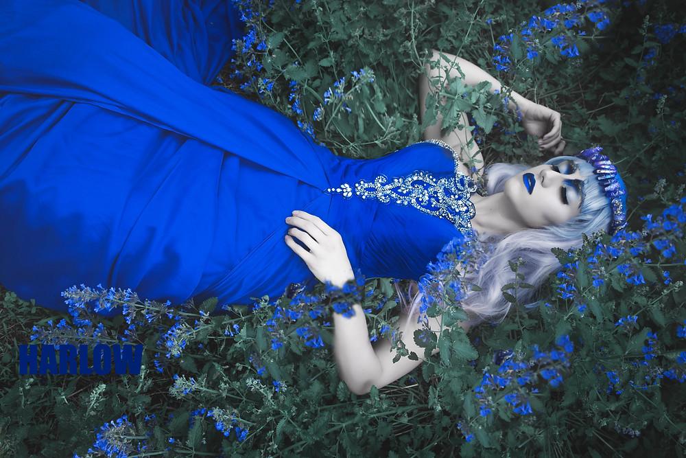 magic, wicca, fine art fantasy photo, gothic beauty, dark beauty, mermaid hair, goth,corset, fairytale, haute goth