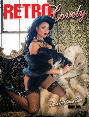 Harlow Pinup Bettie Page retro Lovely magazine cover model Pin-up