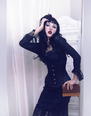 Harlow House Gothic Beauty Wiccan Gtpsy Goddess Priestess Moon