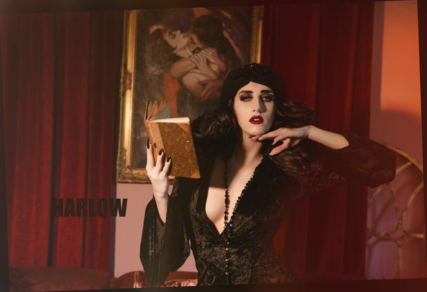 Harlow Pinup Harlow House Photo Chicago Naperville Fine Art Pinup gothic beauty