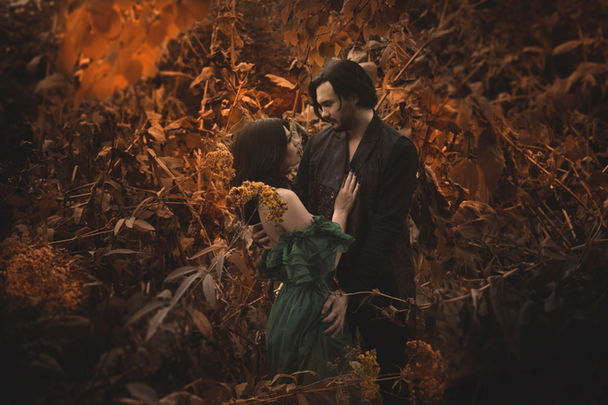 Unique fantasy Engagement photoshoots with photographer Harlow in Chicago IL