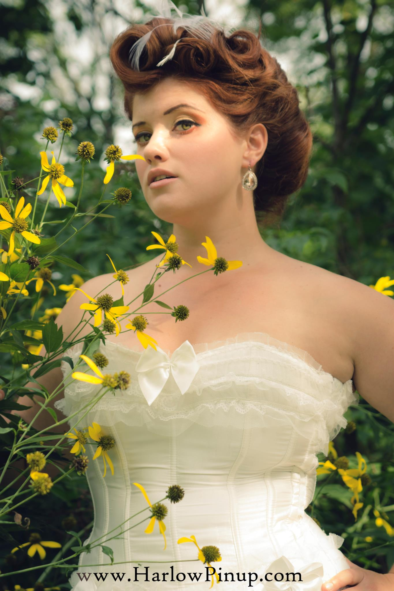 Country Outdoors Bride Sunflowers