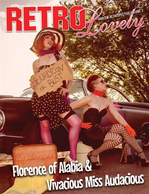 Harlow Pinup Bettie Page retro Lovely magazine cover model Pin-up Burlesque