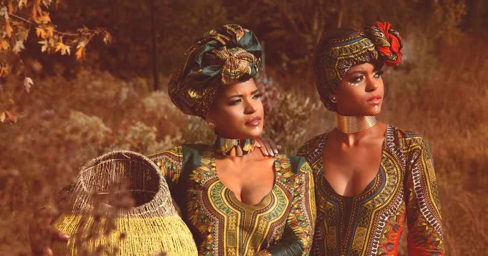 Mother Daughter Traditional African Photoshoot