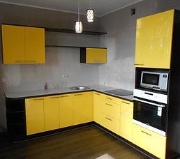 Кухня желтая на заказ во Владимире и Обл