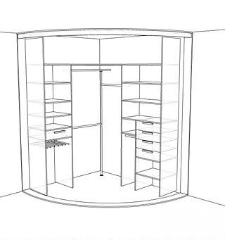 шкаф радиусный на заказ от производителя