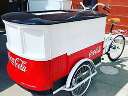 Vélo cargo triporteur Coca Cola