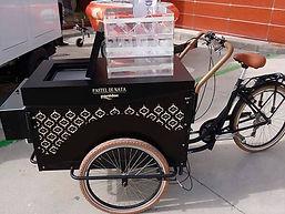 Vélo cargo triporteur à motif