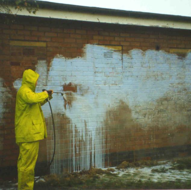 Graffiti During