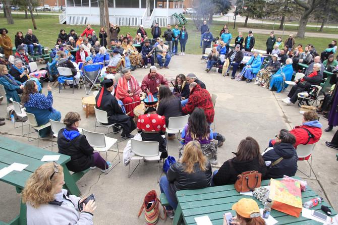 Earth Day Celebration, Peace Fire & Water Ceremony photos by Joanna Trahannas
