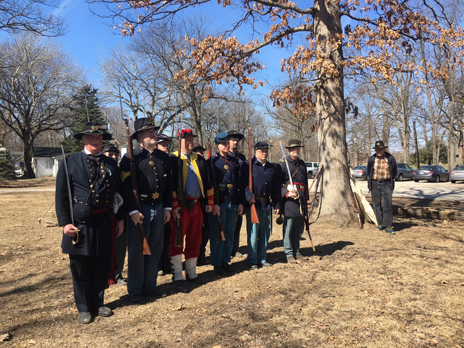 Historic Re-Enactors back at Camp