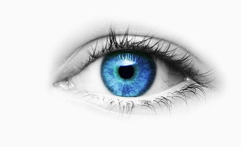 Occhio blu B&W