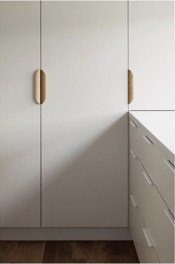 Linear Standard offer a range of handles including half moon and ledge pulls