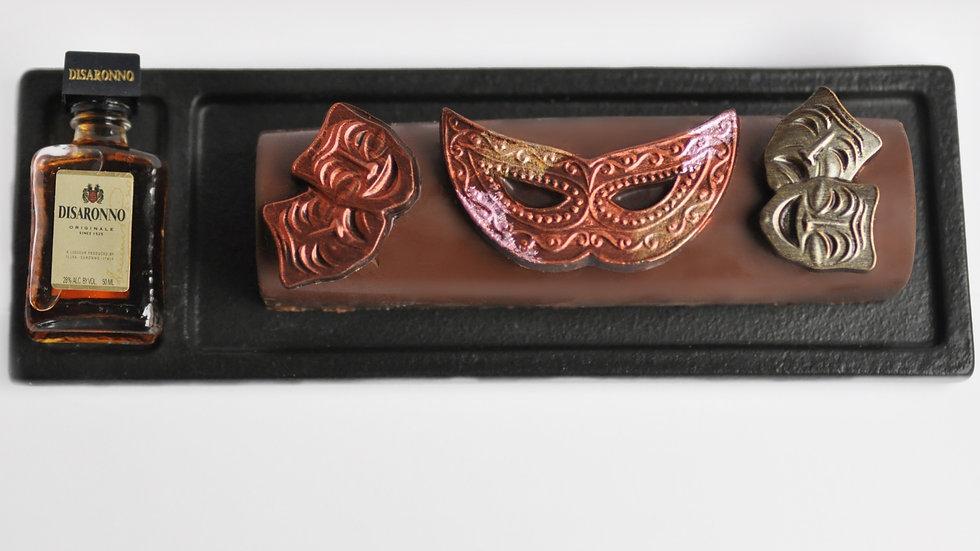 Hand Painted Mask Chocolate Truffle Log