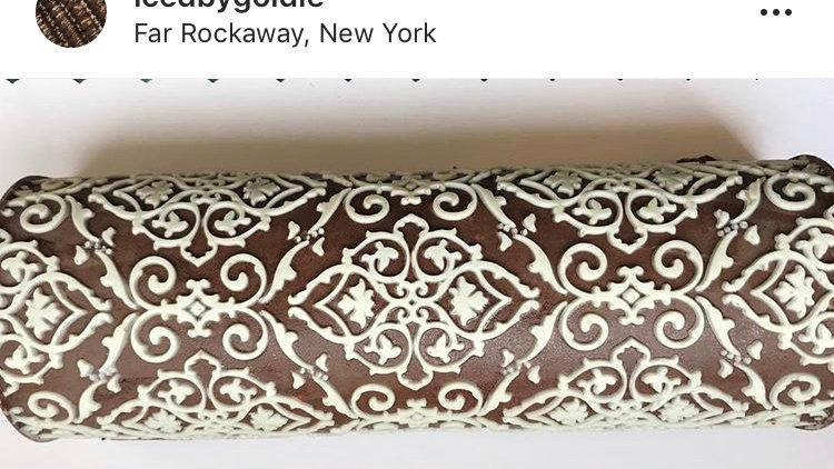 Designer chocolate log