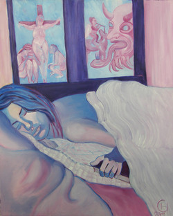 Le_rêve_d'Hermine__73_x_60_cm_Huile_sur_toile__Février_2011