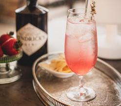 Anima Lounge & Bistro Pink Gin Cocktail