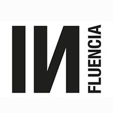Logo influencia typographie Noire sur blanc
