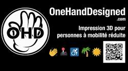 logo one hand designed typo blanche sur fond blanc