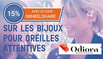 Code promo Odiora partenariat iwheelshare