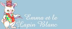 Logo Emma et le lapin blanc avec illustration de lapin