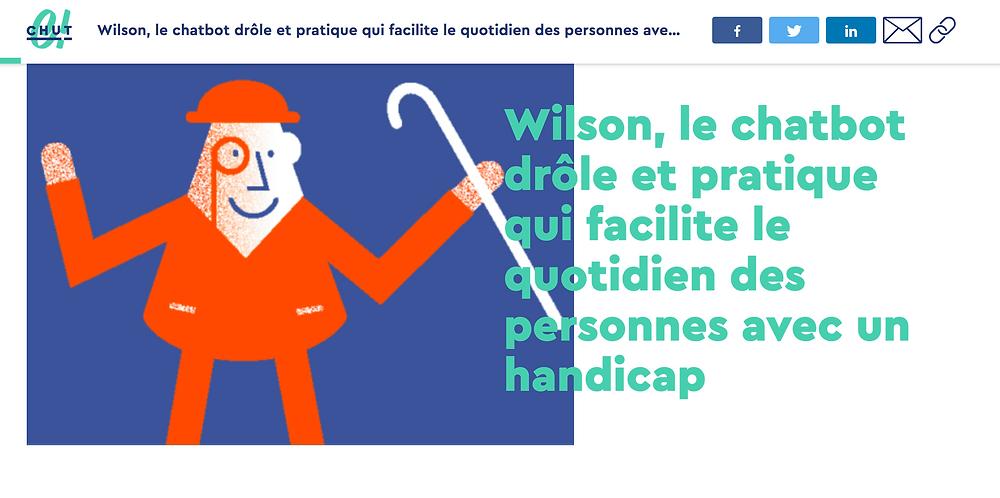 Wilson sur le site du media Chut