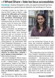 Article sur I Wheel Share dans Ouest France