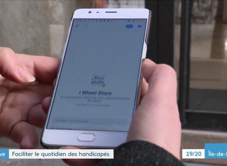 I Wheel Share sur France 3 durant la journée nationale des personnes en situation de Handicap