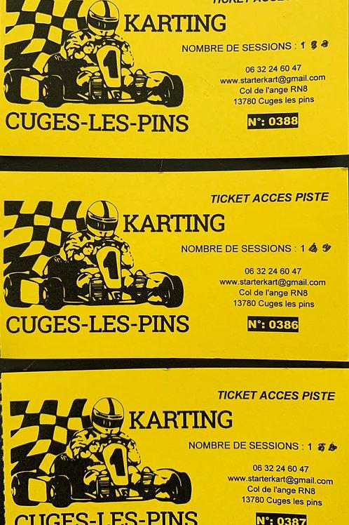 carnet de 10 sessions de kart