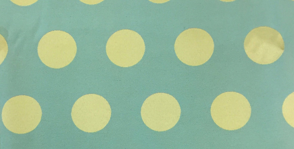 Blue and Lime Green Large Dots