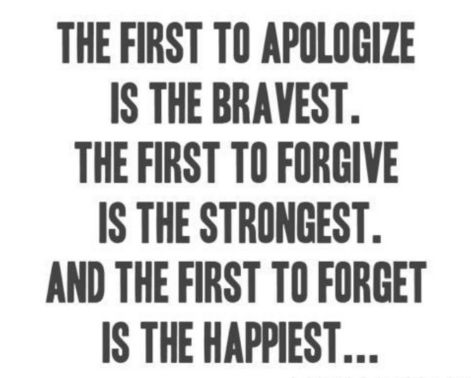 Apologize & Forgive = Happiness