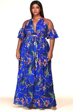 Lux Floral Print Maxi Dress