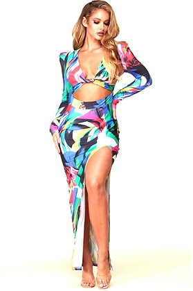 Halle Abstract Print Maxi Dress