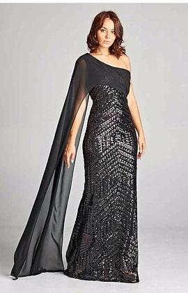 Sybil Black Gown