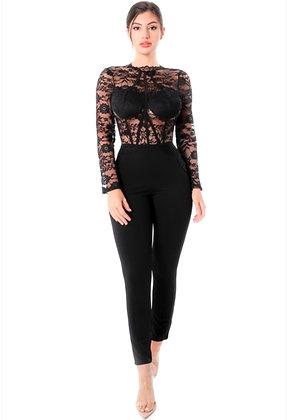 Patrica Black Lace jumpsuit