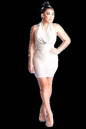 Gia Lurex Rib Halter Dress