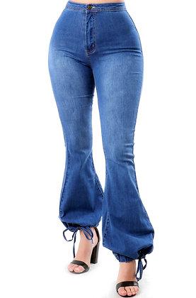 Ocean String Bottom High Waist Jeans