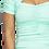 Thumbnail: Jennifer Mint Mini Wrinkle Dress