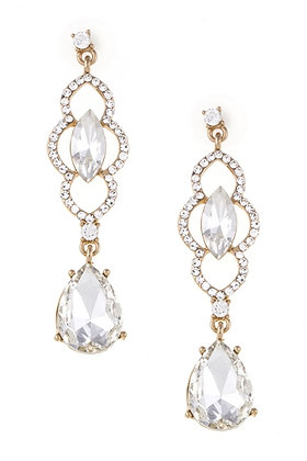 Andrea Bijoux Gold White Earring