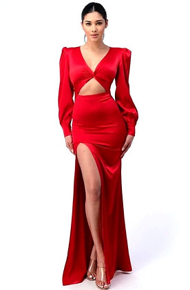 Charlotte Satin Maxi Evening Dress
