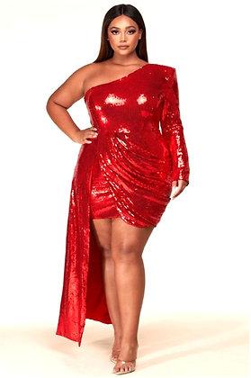Cherry Sequins Evening Dress