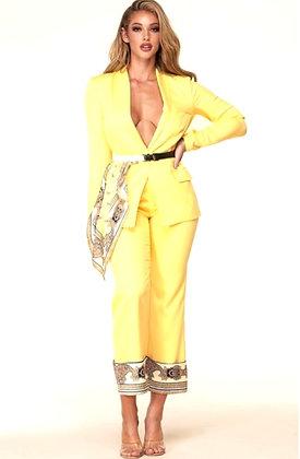 Sasha light yellow two-piece set